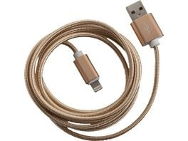 PETER JAeCKEL FASHION 1 5m USB Data Cable Gold fuer Apple Lightning mit Sync und Ladefunktion
