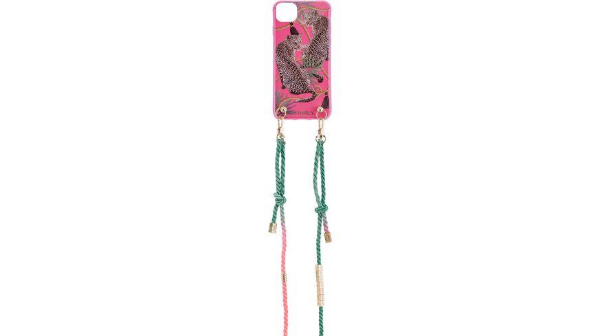 IPHORIA DESIGN Back Cover Necklace Pink Leopard fuer Apple iPhone 11 Artikel ohne Ruecknahme