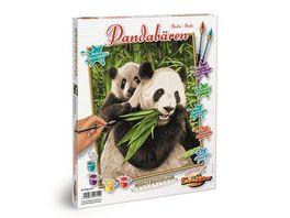 Schipper Malen nach Zahlen Motiv Gruppe Klassiker Tiere Pandabaeren