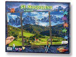Schipper Malen nach Zahlen Motiv Gruppe Triptychon St Magdalena in Suedtirol