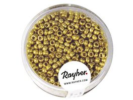Rayher ROCAILLES 2 6MM PERLMUTT GOLD 17G DOSE 1406806