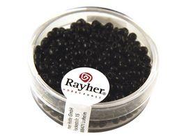 Rayher ROCAILLES 2 6MM OPAK SCHWARZ 17G DOSE 1405601