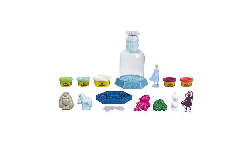 Hasbro Play Doh Mysteries Disney Die Eiskoenigin 2 Elsas Schneekugel Spielzeug mit 5 Play Doh Farben