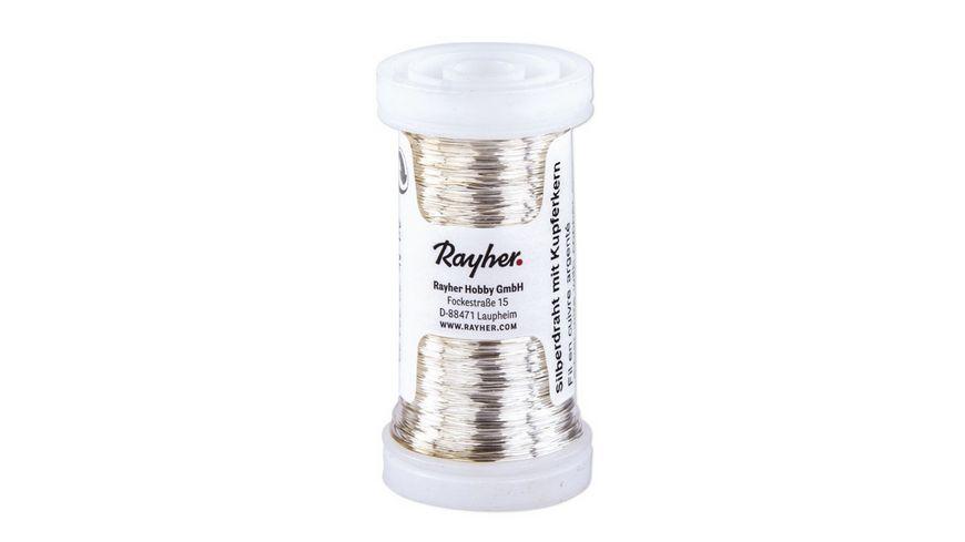Rayher - SILBERDRAHT 0,4MMX100M M. KUPFERKERN 2402400