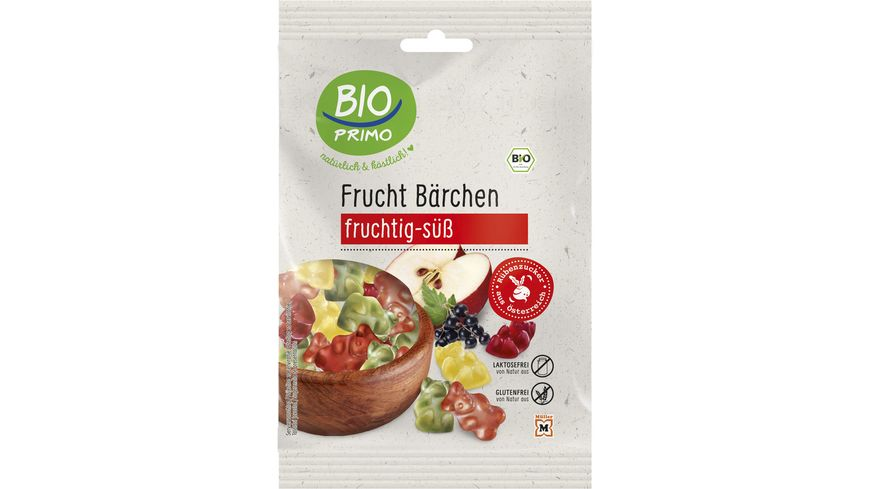 BIO PRIMO Frucht Gummi Baerchen fruchtig suess