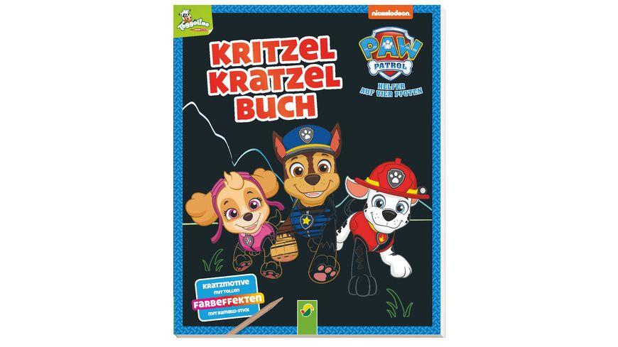 Paw Patrol Kritzel Kratzel Buch Auskratzmotive mit tollen Farbeffekten Mit Bambus Stick