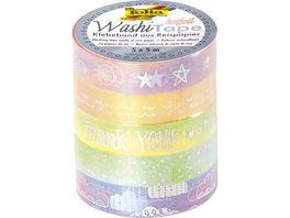 folia Washi Tape 5er Set Rainbow