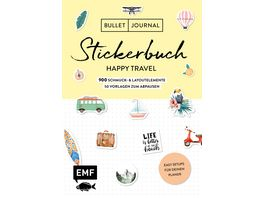 Bullet Journal Stickerbuch Happy Travel 750 Schmuck und Layoutelemente rund um das Thema Reisen