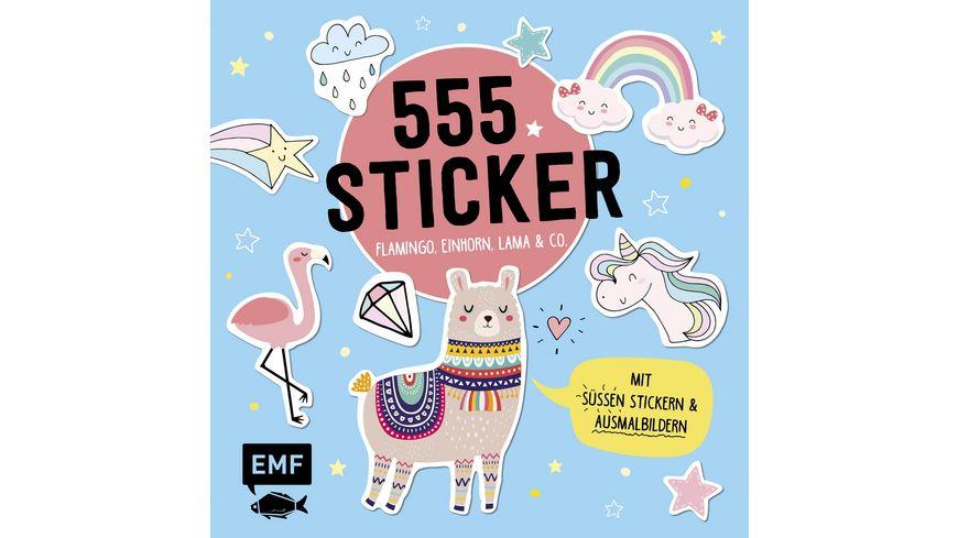 555 Sticker Flamingo Einhorn Lama und Co