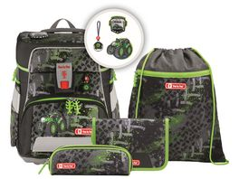 Step by Step Space Schulranzen Set 5teilig Green Tractor