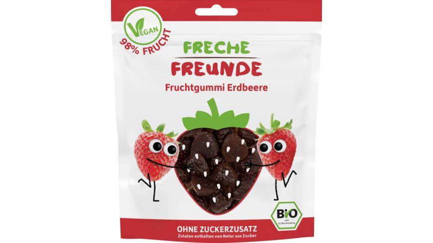 Freche Freunde Bio Knabber Fruchtgummi Erdbeere