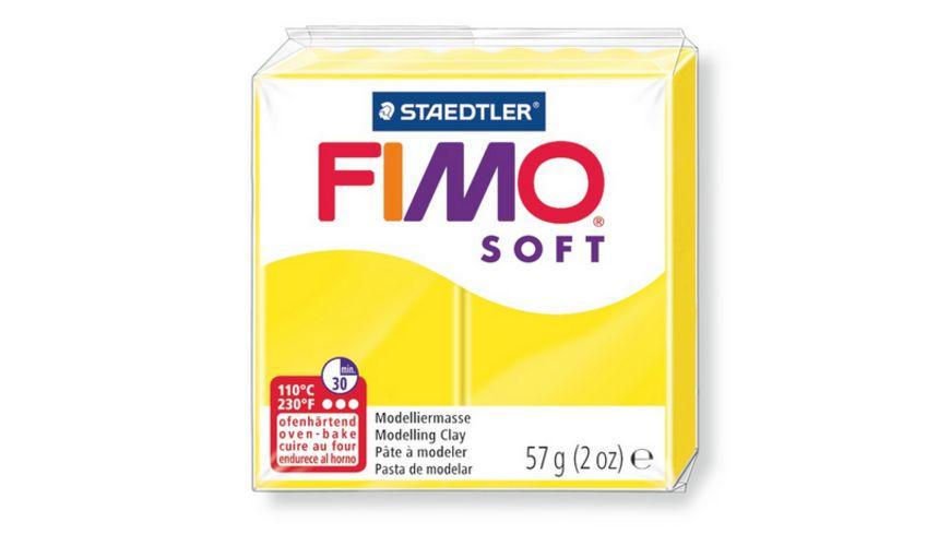 FIMO 8020 10 soft Ofenhaertende Modelliermasse limonengelb
