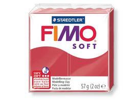 FIMO 8020 26 soft Ofenhaertende Modelliermasse kirschrot