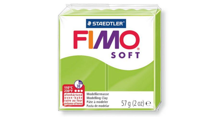 FIMO 8020 50 soft Ofenhaertende Modelliermasse apfelgruen