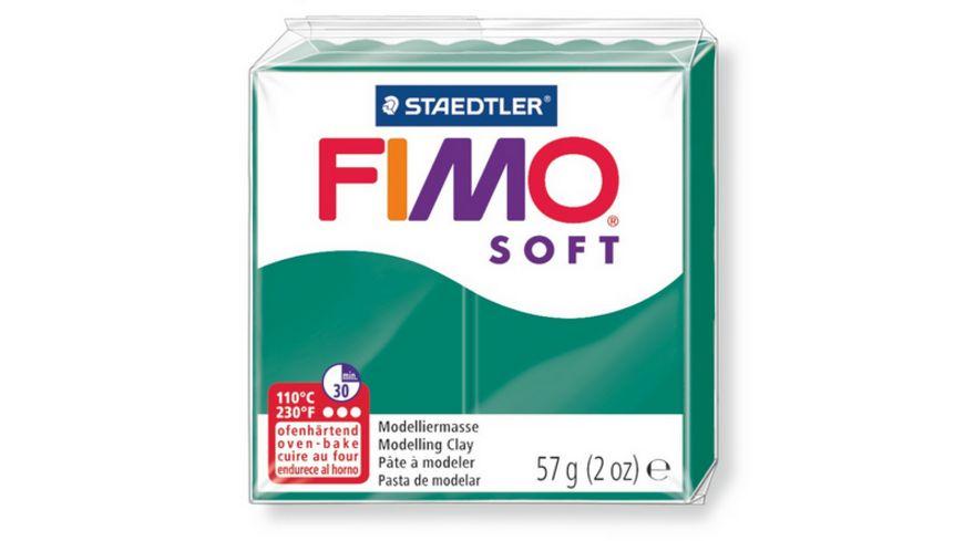 FIMO 8020 56 soft Ofenhaertende Modelliermasse smaragd