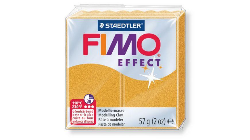 FIMO 8020 11 effect Ofenhaertende Modelliermasse Metallic gold