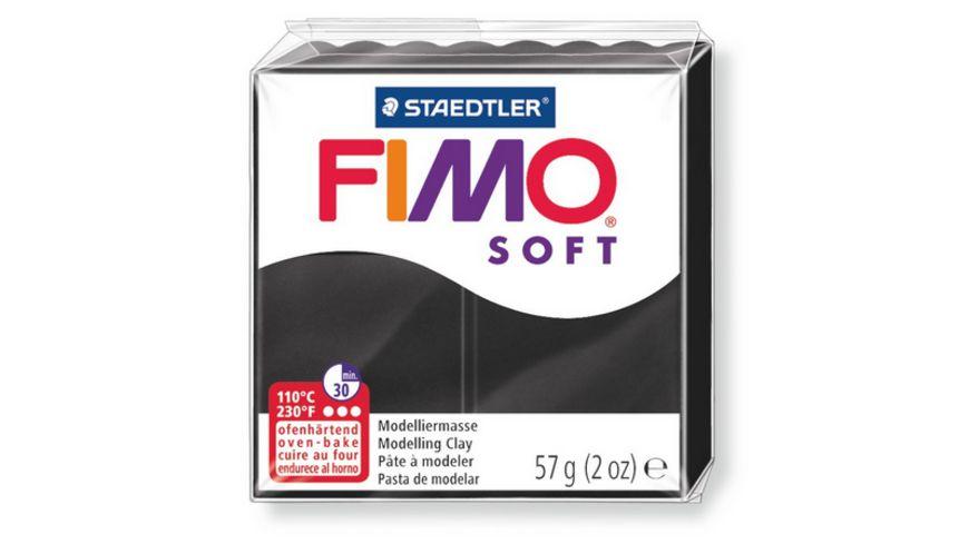 FIMO 8020 9 soft Ofenhaertende Modelliermasse schwarz