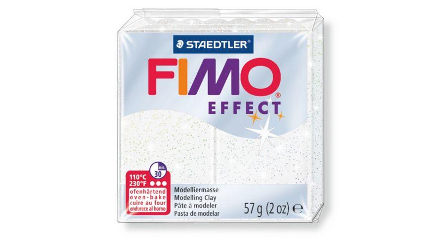 FIMO 8020 052 effect Ofenhaertende Modelliermasse glitter weiss