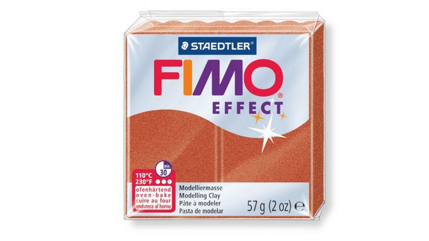 FIMO 8020 27 effect Ofenhaertende Modelliermasse Metallic kupfer