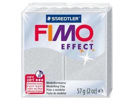 FIMO 8020 81 effect Ofenhaertende Modelliermasse Metallic silber