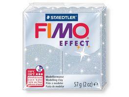 FIMO 8020 812 effect Ofenhaertende Modelliermasse glitter silber