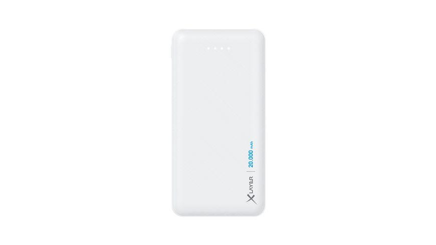 Xlayer Zusatzakku Powerbank Micro White 20.000mAh