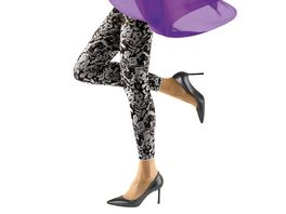 MOVE UP Damen Leggings mit Blumen Design