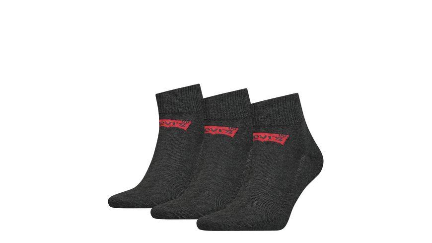 Levis Herren Quarter Socken Mid Cut 3er Pack