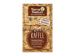 Terra Naturi 2in1 Kaffee Peeling Maske Limited Edition