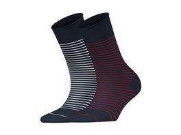 ESPRIT Damen Soeckchen Fine Stripe 2 Pack