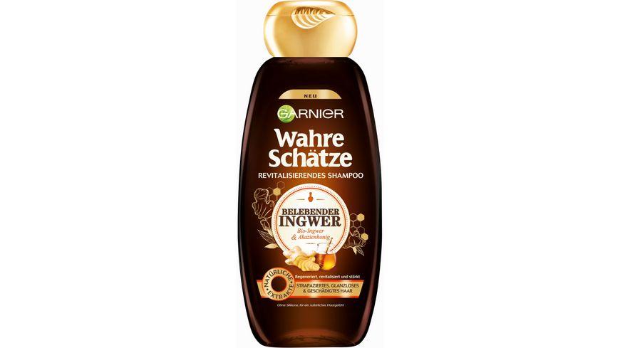 GARNIER Wahre Schätze Revitalisierendes Shampoo Bio-Ingwer & Akazienhonig