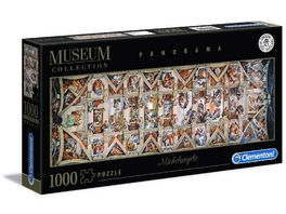 Clementoni Michelangelo 1000 teile Museum Collection Sixtinischen Kapelle Panorama Puzzle