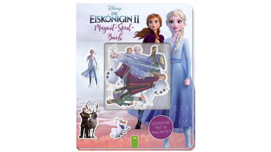 Die Eiskoenigin 2 Magnet Spiel Buch Spielspass mit 16 Magneten