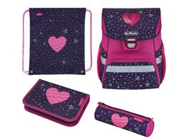 Herlitz Loop Plus Schulranzen Set 4teilig Tropical Heart
