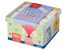 Q tips Boys Girls Babystaebchen mit Papierschaft 64 Stueck