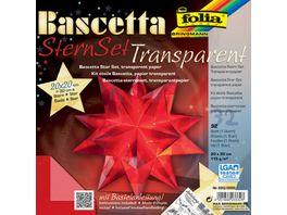 folia Bascetta Stern transparent rot 20 x 20cm