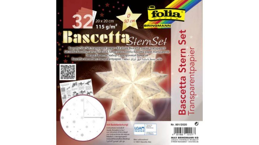 folia Bascetta Stern transparent weiss silber