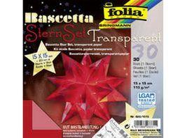 folia Bascetta Stern transparent rot 15 x 15cm