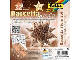 folia Bascetta Stern riental kupfer weiss