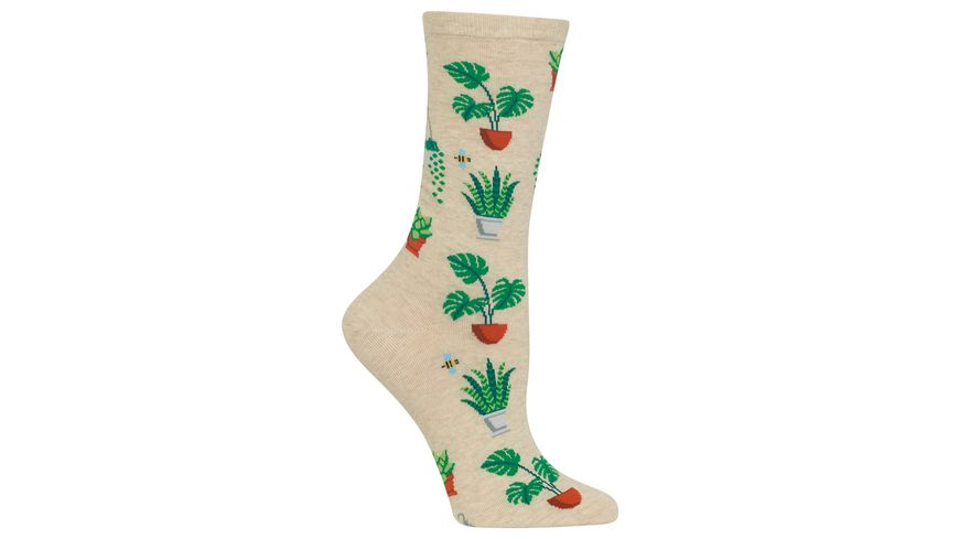 HOTSOX Damen Socke Potted Plants