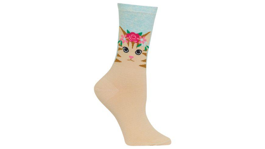 HOTSOX Damen Socke Cat Flower Crown