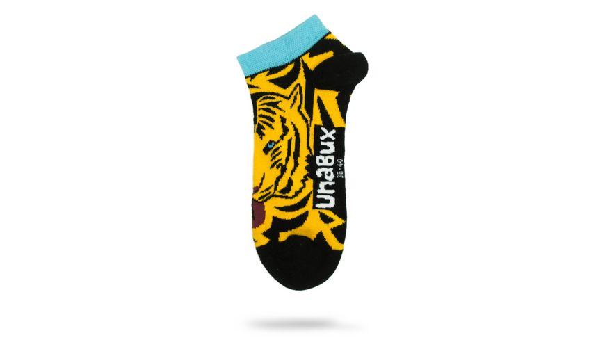 Unabux Unisex Sneaker Socken Tiger & Zebra 2er Pack