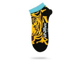 Unabux Unisex Sneaker Socken Tiger Zebra 2er Pack