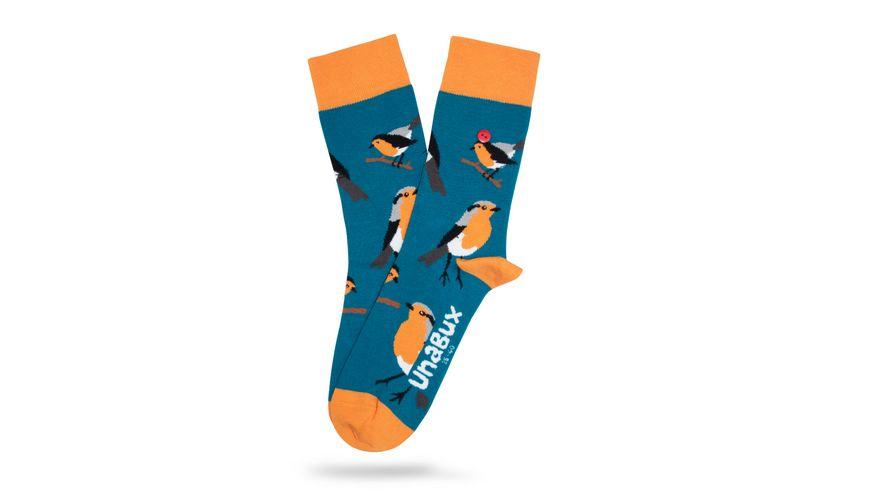 Unabux Unisex Socken Rotkehlchen