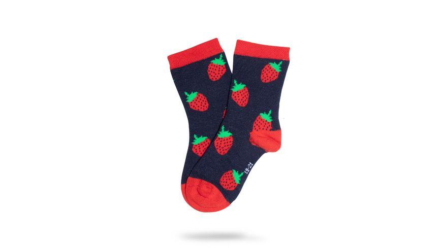 Unabux Babysocken Erdbeeren Unisex