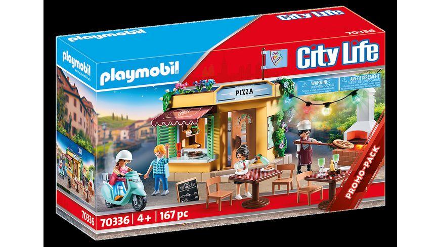 PLAYMOBIL 70336 City Life Pizzeria mit Gartenrestaurant