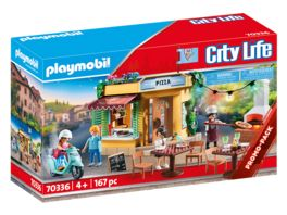 PLAYMOBIL 70336 City Life Pizzeria mit Gartenrestaurant