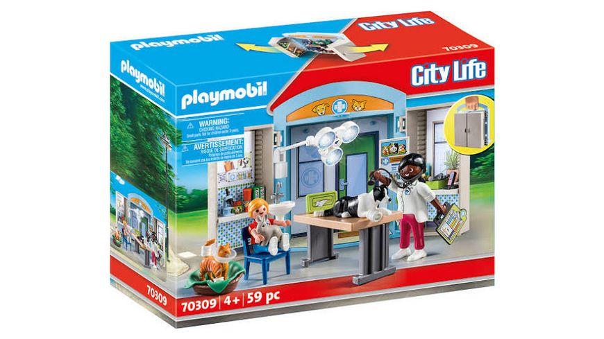 PLAYMOBIL 70309 City Life Spielbox Beim Tierarzt