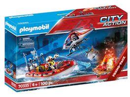 PLAYMOBIL 70335 City Action Feuerwehreinsatz mit Heli und Boot