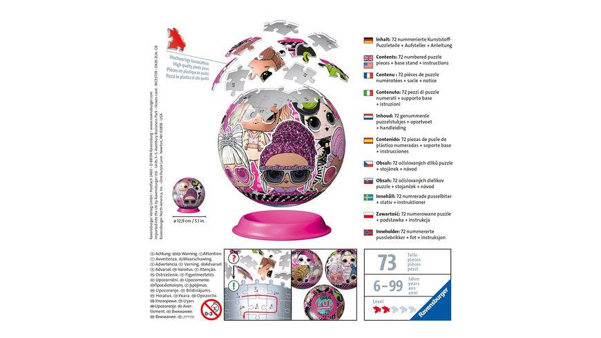 Ravensburger Puzzle 3D Puzzle Ball LOL Surprise